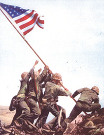 flag raising on iwo jima